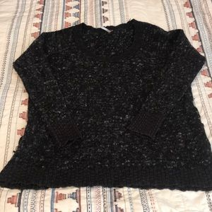 Free People textured grey and black sweater